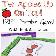 Ten Apples Up On Top Printable Game
