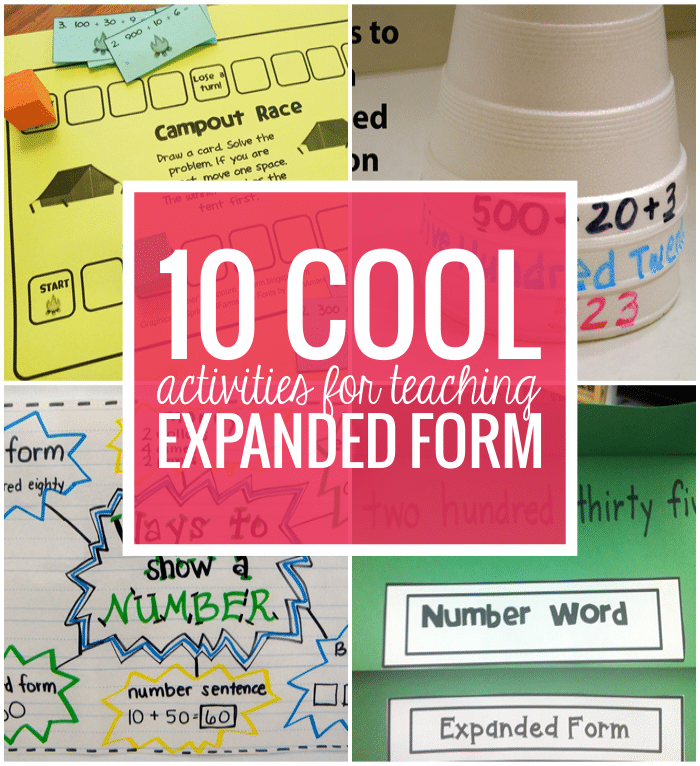 10 Cool Expanded Form Teacher Helpers Teach Junkie