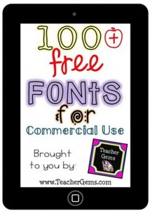 Free Fonts for Commercial Use: Teacher Collection - Teach Junkie