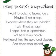 I Want to Catch a Leprechaun: Poem for St. Patrick's Day