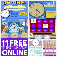 11 Free Telling Time Games Online