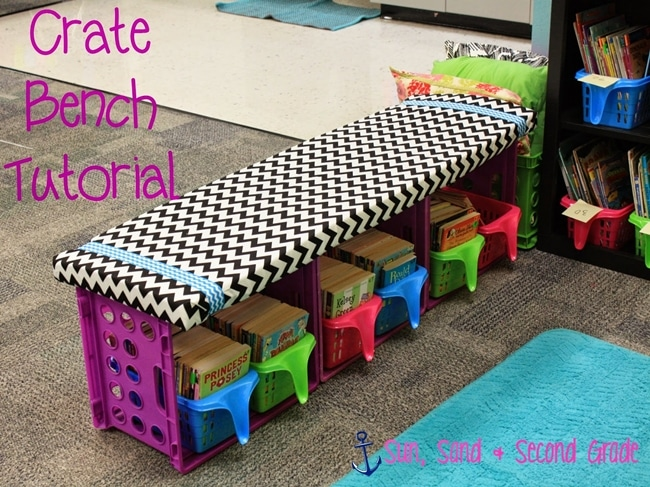14 stunning classroom decorating ideas to make your classroom sparkle crate reading bench tutorial teach - Classroom Decorating Ideas