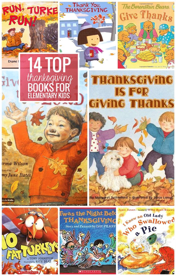 14 Thanksgiving Books for Elementary Kids