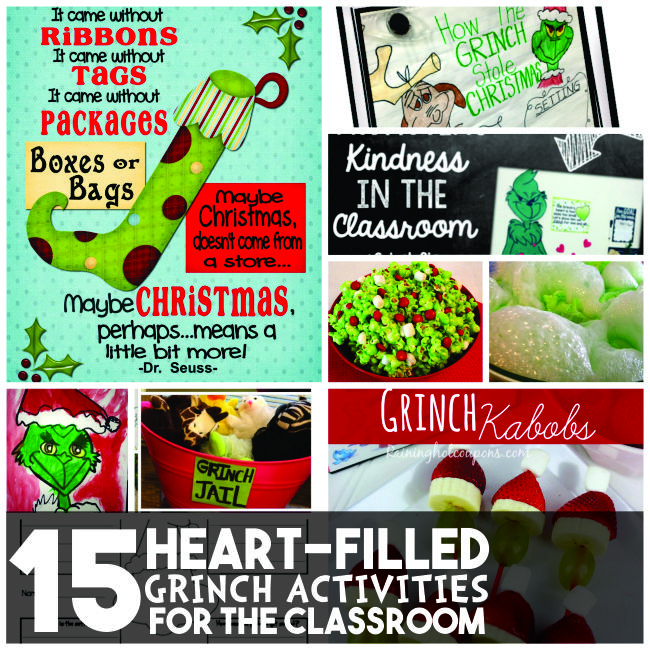 15 Heart-Filled Grinch Activities for the Classroom - Teach Junkie