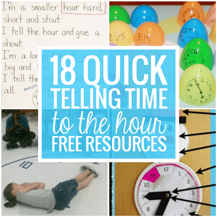 18 Quick and Free Telling Time to the Hour Resources