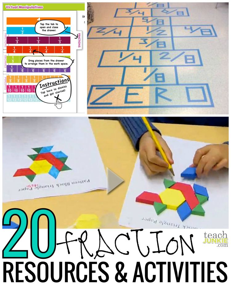 20 Ready to Go Resources and Activities Teach Junkie – Pattern Block Fraction Worksheets