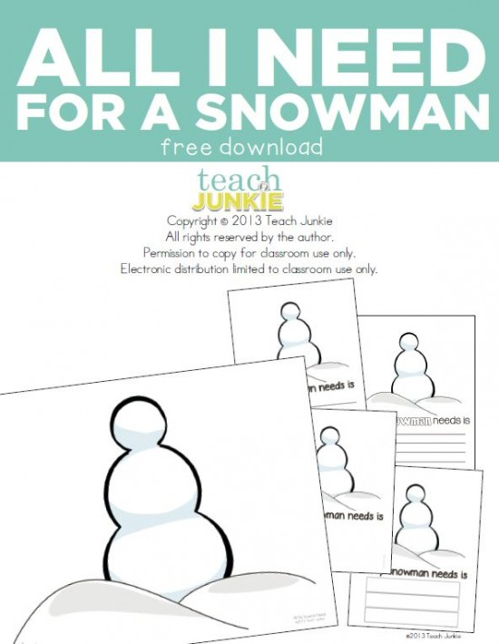 Teach Junkie: Need for Snowman