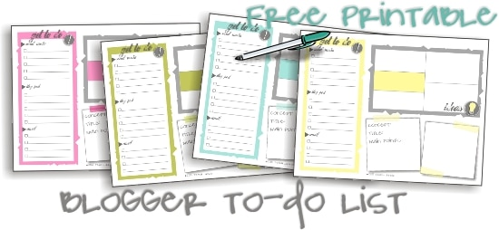 Blogger To-Do List {Free Download}