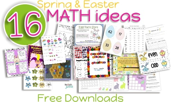 16 Spring and Easter Math Ideas {Free Download}