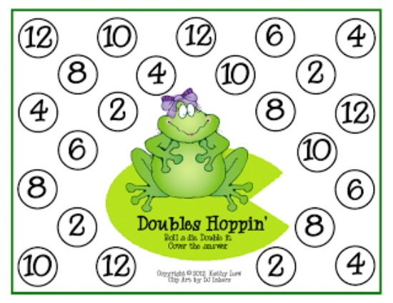 Teach Junkie: 16 Spring and Easter Math Ideas {Free Download} - Doubles Hoppin'
