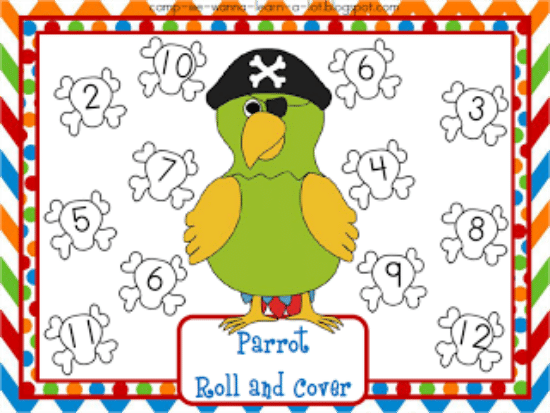 "Teach Junkie: 40 Roll and Cover ""Bump"" Cool Math Games - Parrot"