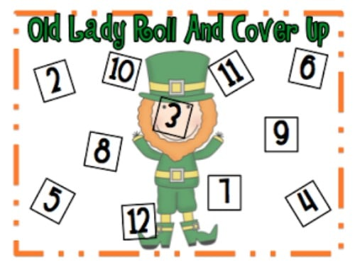 "Teach Junkie: 40 Roll and Cover ""Bump"" Cool Math Games - There Was An Old Lady Versions"