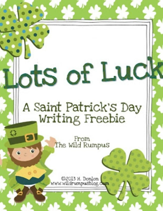 Teach Junkie: 4 St. Patrick's Day Writing Prompts - Lots of Luck