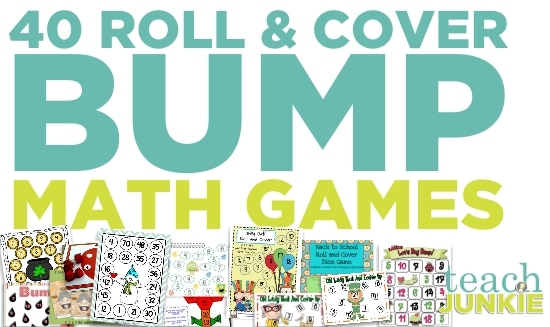 "Teach Junkie: 40 Roll and Cover ""Bump"" Cool Math Games"