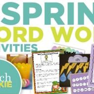 6 Spring ELA Word Work Activities {Free Download}