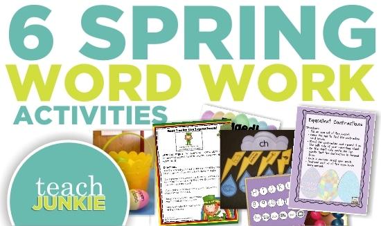 Teach Junkie: 6 Spring ELA Word Work Activities {Free Download}