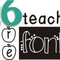 Teach Junkie: 26 Free Fonts for Teachers