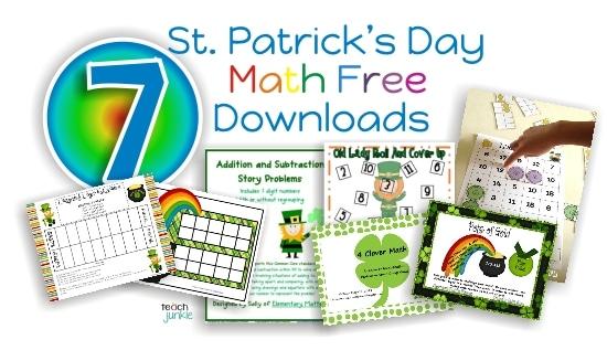 St. Patrick's Day Math Free Download {Goodie Bag} - Teach Junkie