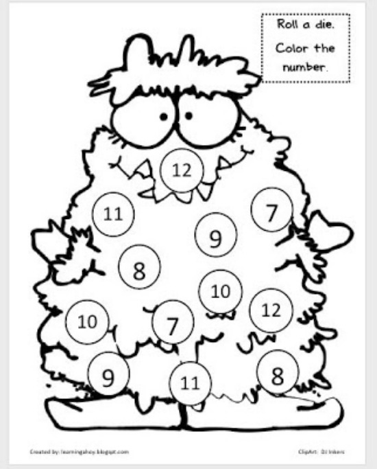"Teach Junkie: 40 Roll and Cover ""Bump"" Cool Math Games - Monster Cover Up"