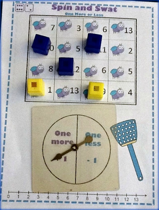 "Teach Junkie: 40 Roll and Cover ""Bump"" Cool Math Games - 1 More or 1 Less"