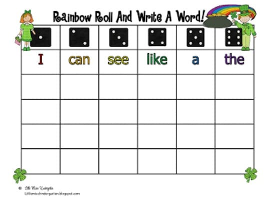 Sight Word Games Printable Sight Word Games Rainbow