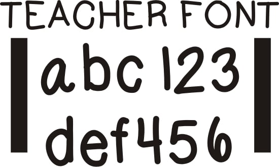26 Free Fonts for Teachers - Teach Junkie