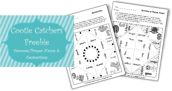Teach Junkie: 17 Quick Cootie Catcher Printables and Lesson Plan Ideas