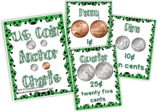 Teach Junkie - Teaching Money with Games and Anchor Charts {Free Download}