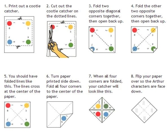 Quick Cootie Catcher Printables And Lesson Plan Ideas  Teach