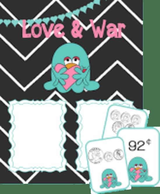 Printable Games {Teacher Created} on Teach Junkie - Love and War Money Game