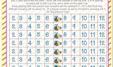 Spring Addition Game {Free Download} Bee Stinging Sevens