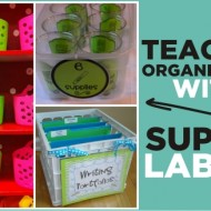 Teacher Organization With Supply Labels