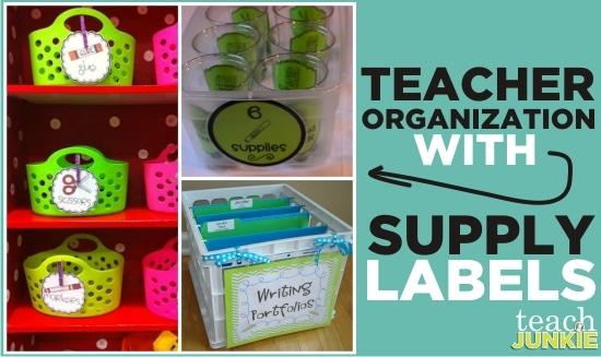 Teach Junkie: Teacher Organization With Supply Labels