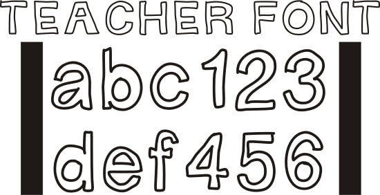 teach junkie 42 free fonts for teachers goodie bag