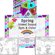 Spring CVC Words Spin and Color {Free Download}