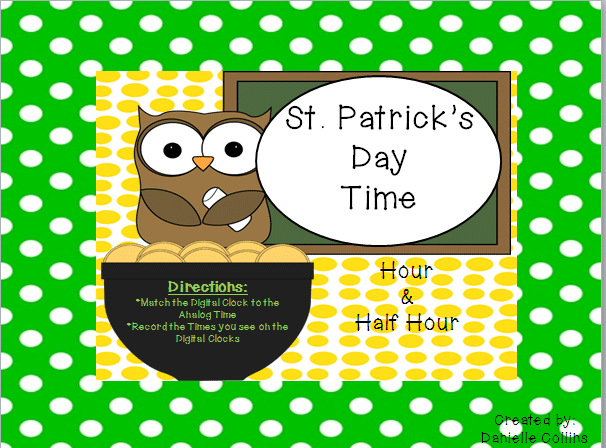 St. Patrick's Day Time {differentiated activity}