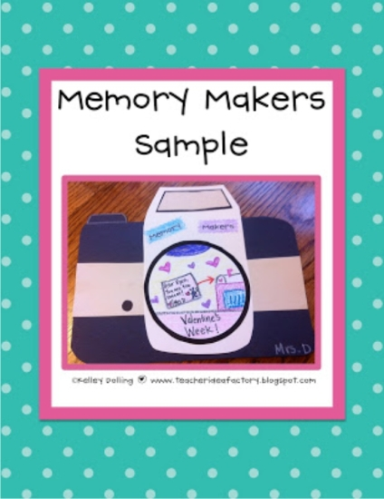 Teach Junkie: 17 Simple End of the school Year Student Gifts and Writing Activities - Memory Maker Free craftivitity