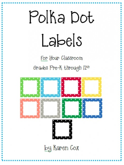 21 free classroom organization labels and tags teach junkie teach junkie 21 classroom organization labels and tags polka dot labels pronofoot35fo Images