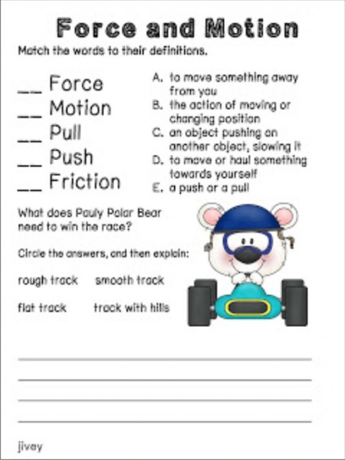 Worksheet Force And Motion Worksheets 19 fun ideas resources for force and motion teach junkie to motion