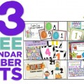13 Printable Calendar Numbers {Free Download Sets}
