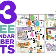 13 Printable Calendar Numbers {Free Download Sets}
