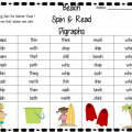 Spin and Read Digraphs – Beach Style {Free Download}