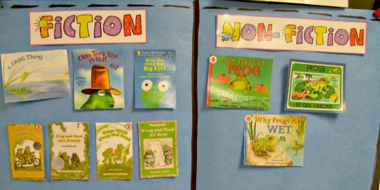 Teach Junkie: 25 Easy Frog and Toad Ideas and Activities - Comparing Fiction and Non-Fiction Frog and Toad Books