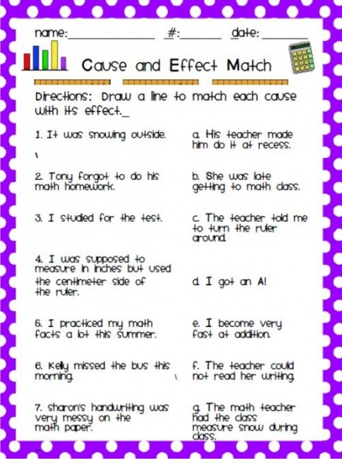 Reading Worksheets | Cause and Effect Worksheets
