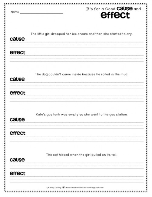 Cause &amp- Effect Worksheets by Fran Lafferty | Teachers Pay Teachers