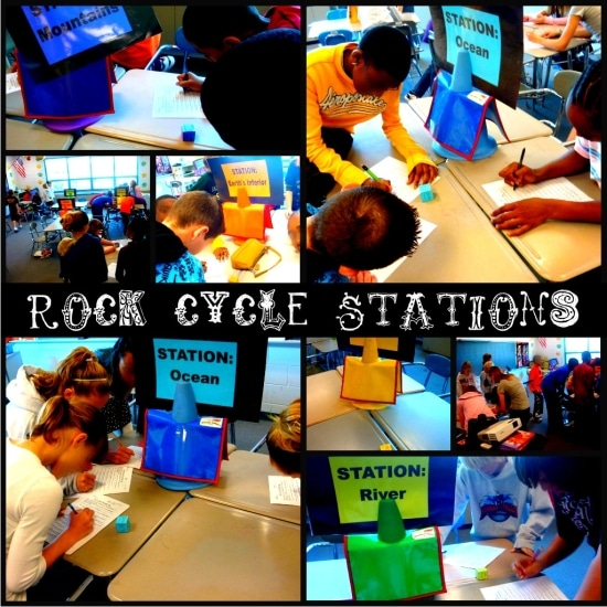 Teach Junkie: Rocks for Kids - 15 Activities and Ideas - Rock Cycle Stations
