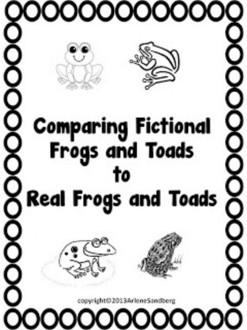 Teach Junkie: 25 Easy Frog and Toad Ideas and Activities - Comparing Fictional Frogs and Toads to Real Frogs and Toads