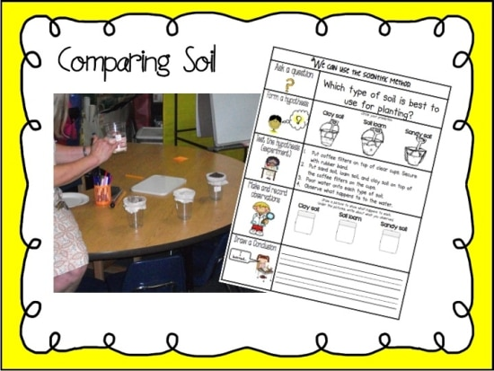 Teach Junkie: Rocks for Kids - 15 Activities and Ideas - Comparing Soil Investigation