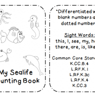 Sea Life Counting Book {Free Download}