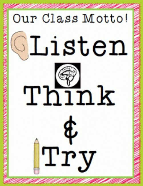 Classroom Motto Ideas ~ Our class motto for success free printable teach junkie
